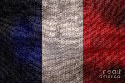 Old French Flag Art Print by Jon Neidert