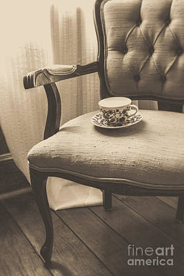 Photograph - Old Friend China Tea Up On Chair by Edward Fielding