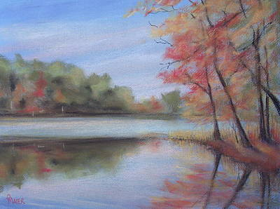 Lakescape Painting - Old Friend by Pete Maier