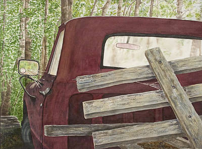 Outdoor Still Life Painting - Old Friend by Rosie Phillips