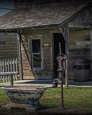 Photograph - Old Frontier Barber Shop With Bath by Randall Nyhof