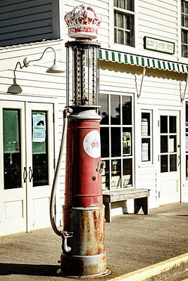 Art Print featuring the photograph Old Fuel Pump by Alexey Stiop