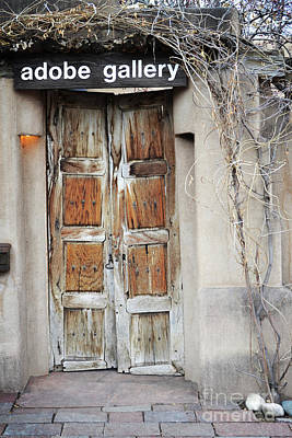 Art Print featuring the photograph Old Gallery Door by Andrea Hazel Ihlefeld