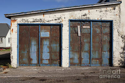 Photograph - Old Garage Doors Iceland by Edward Fielding