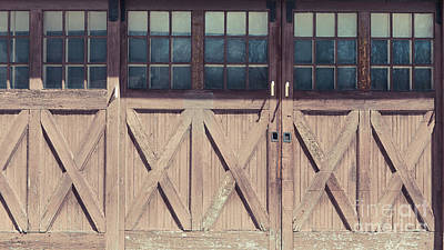 Photograph - Old Garage Doors Portsmouth Nh by Edward Fielding