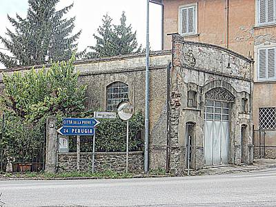 Photograph - Old Garage Tavernelle Umbria by Dorothy Berry-Lound