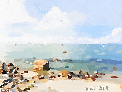 Old Garden Beach  Art Print