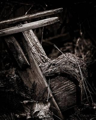 Moody Wall Art - Photograph - Old Garden Chair. by Bill Linn