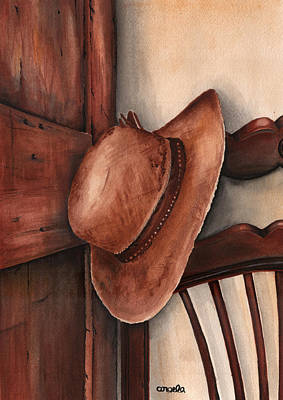 Painting - Old Garden Hat by Angela Armano