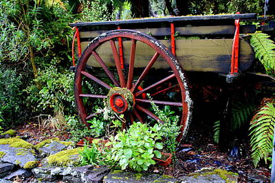 Photograph - Old Garden Wagon by Laurel Talabere