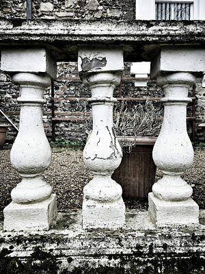 Balusters Photograph - Old Garden Wall by Tom Gowanlock