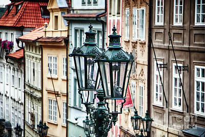 Gas Lamp Photograph - Old Gas Lamps Of Prague by George Oze