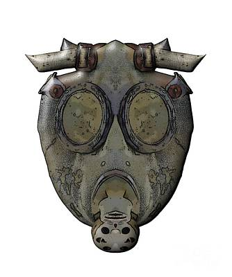 Muzzle Digital Art - Old Gas Mask by Michal Boubin
