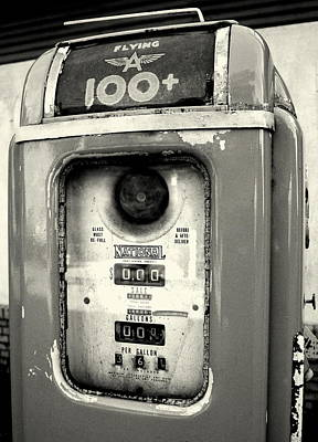 Old Gas Pump Art Print by DazzleMePhotography