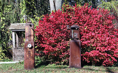 Photograph - Old Gas Pumps by Gerald Mitchell