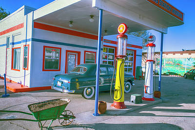 Gas Pump Wall Art - Photograph - Old Gas Station Arizona  by Garry Gay