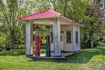 Photograph - Old Gas Station by Lynn Sprowl