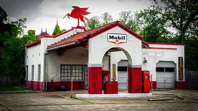Old Gas Station Art Print by Mountain Dreams