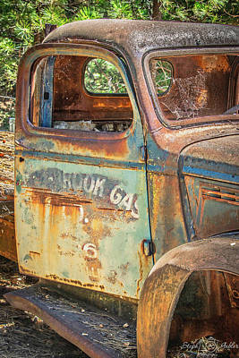 Photograph - Old Gas Truck by Steph Gabler