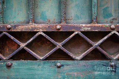 Antique Ironwork Photograph - Old Gate Geometric Detail by Elena Elisseeva