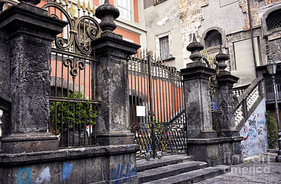 Photograph - Old Gate In Naples by John Rizzuto