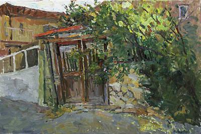 Painting - Old Gates by Juliya Zhukova