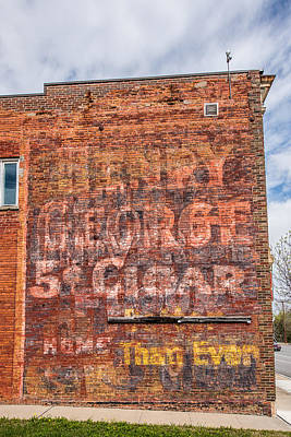 Small Town Life Photograph - Old Ghost Sign by Paul Freidlund