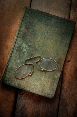Photograph - Old Glasses And Old Green Book by Jaroslaw Blaminsky