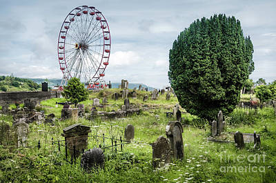 Old Glenarm Cemetery And Big Wheel  Art Print by RicardMN Photography