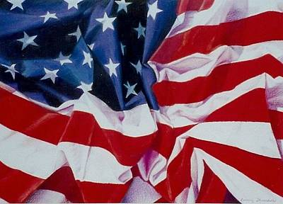 Painting - Old Glory  1 by Constance Drescher