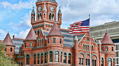 Old Glory And Old Red Art Print by Stephen Stookey