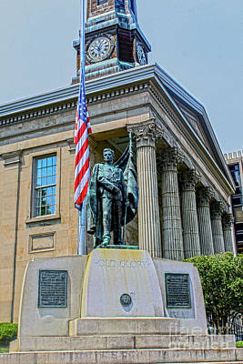Photograph - Old Glory At Courthouse by Sandy Moulder