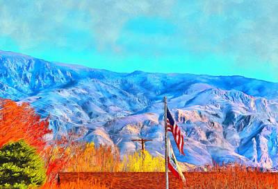 Digital Art - Old Glory At High Sierra by Viktor Savchenko