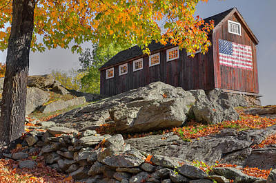 Photograph - Old Glory Autumn by Bill Wakeley