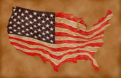 Bunting Digital Art - Old Glory by Carl Scallop