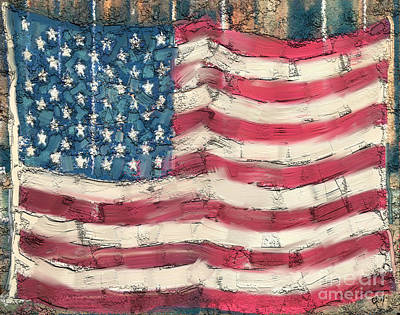 Painting - Old Glory by Carrie Joy Byrnes