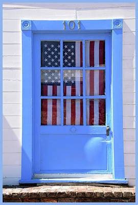 Photograph - Old Glory Door by Barbara Snyder