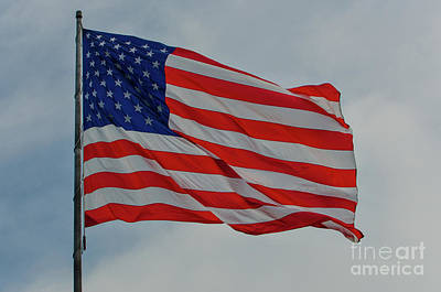 Photograph - Old Glory Flapping In The Wind Over Charleston by Dale Powell