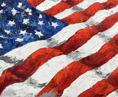 Painting - Old Glory II by Debbie Frame Weibler