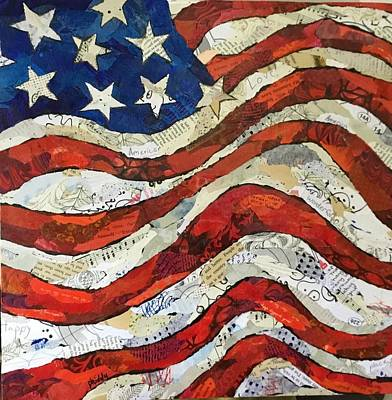 Painting - Old Glory II by Phiddy Webb