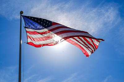 Photograph - Old Glory In The Sun by John McArthur