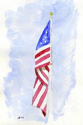 Painting - Old Glory by John Bennett