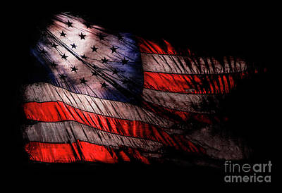 Star Spangled Banner Photograph - Old Glory by Jon Neidert