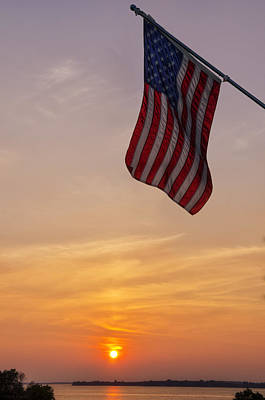 Outside Photograph - Old Glory by Mark Papke
