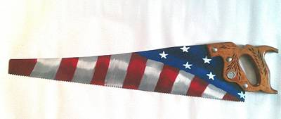 Handsaw Painting - Old Glory by Matt Bier
