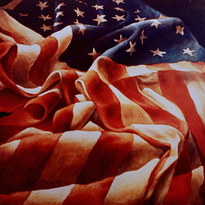 Painting - Old Glory by Michael Lang