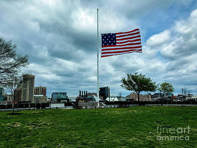 Photograph - Old Glory Over Baltimore by Jason Sullivan