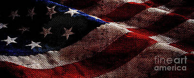 Star Spangled Banner Photograph - Old Glory Panoramic by Jon Neidert