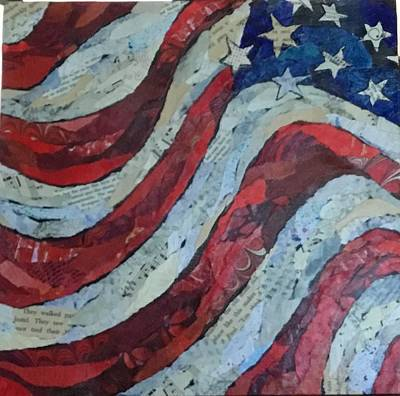 Painting - Old Glory by Phiddy Webb