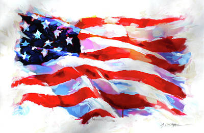 Painting - Old Glory by Steven Lester